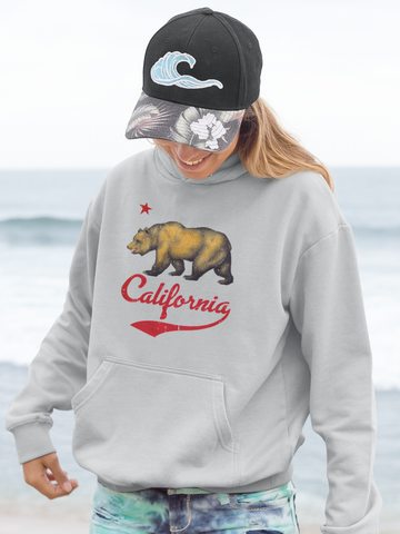 California Bear - by LCKY JACK (for Trixie & Milo) - Hoodie, Hoodie, Cali, surf, West Coast, Los Angeles, San Francisco