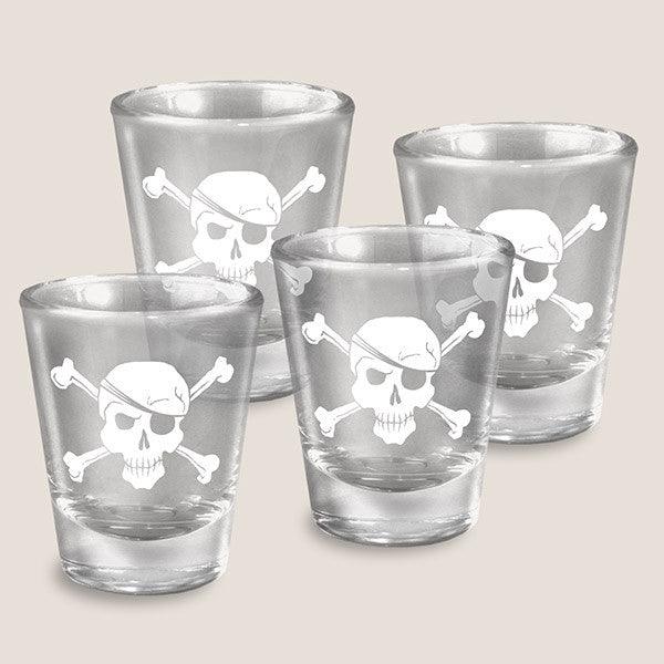 Pirates - Set of 4 - Shot Glass Gift Set