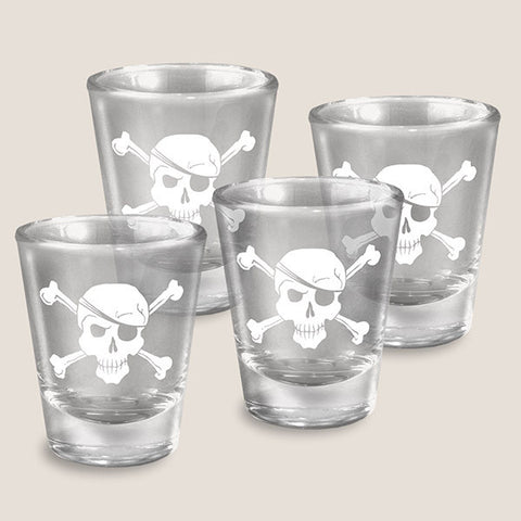 PRE-ORDER - Arrgh Matey (Pirates) - Set of 4 - Shot Glass