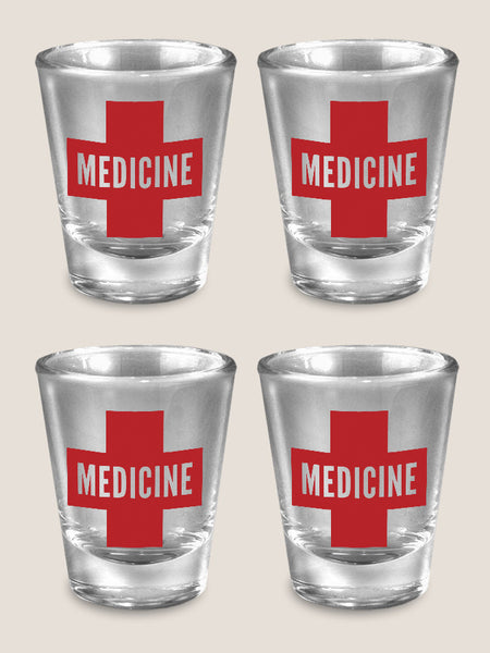 Medicine - Set of 4 - Shot Glass Gift Set