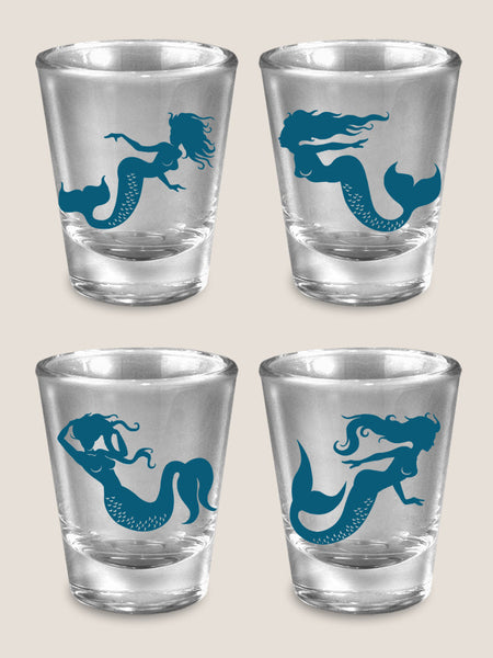 Mermaids - Set of 4 - Shot Glass Gift Set