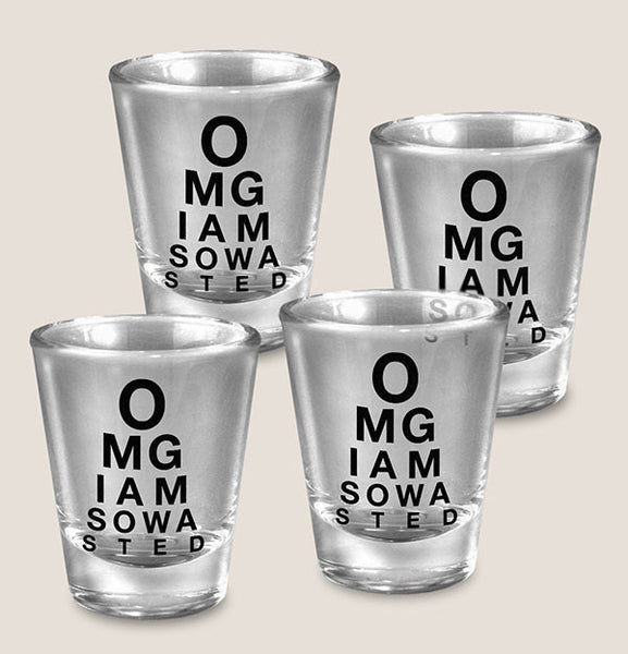 OMG - Set of 4 - Shot Glass Gift Set
