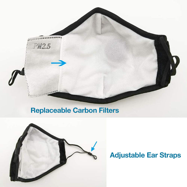 PPE Face Mask Black Cotton (Personal Protection Equipment)