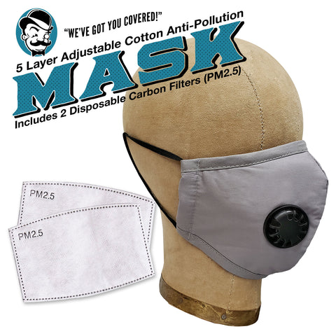 PPE Face Mask GRAY Cotton (Personal Protection Equipment)