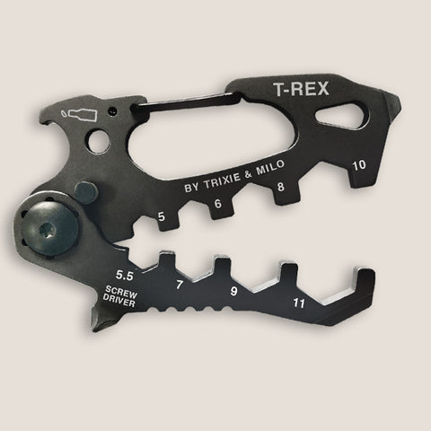 The T-Rex Multi tool and carabiner, by Trixie & Milo. A cool menÕs gift. Great boyfriend gift idea.