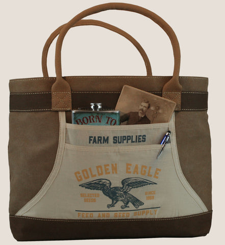 PRE-ORDER - Golden Eagle - Apron Tote Bag