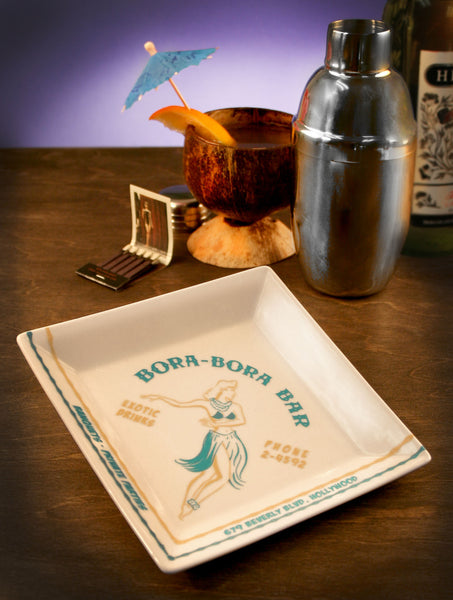 Bora-Bora Bar   Coaster/Cocktail Napkin Tray  -  1940's Hollywood