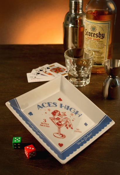 Aces High - 1960's Vegas - Coaster/Cocktail Napkin Tray
