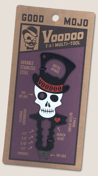 "The Voodoo Multi-Tool (steel voodoo doll) ""9-in-1 tool"""