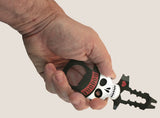 The Voodoo Doll Multi tool, by Trixie & Milo. Perfect gift idea for lovers of skulls. Bottle opener design.