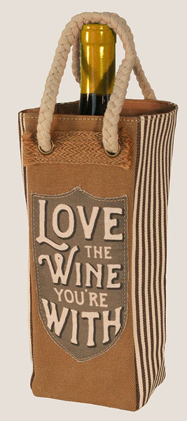 Love the Wine You're With - Wine Tote