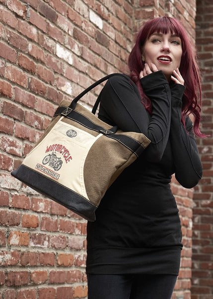 "Apron Tote Bag - ""Motorcycle parts & accessories"""