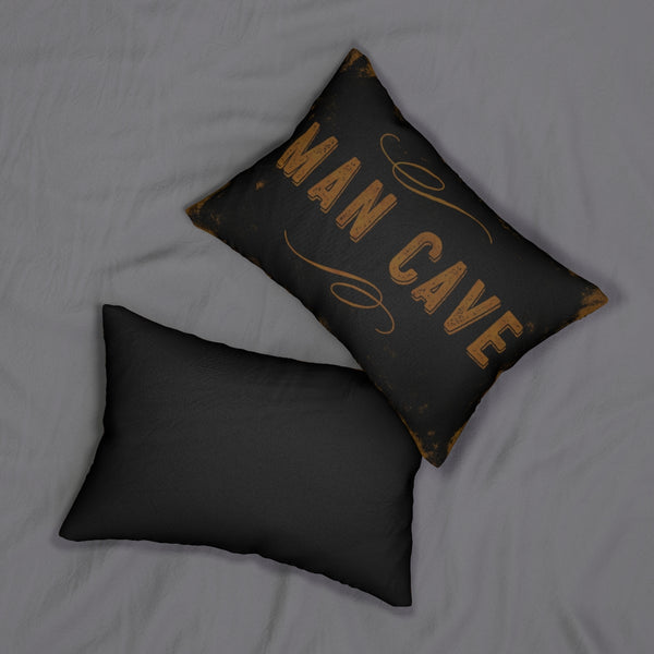 "Man Cave - 14""x20"" Lumbar Pillow by LCKY JACK - Bar pillow, Garage Pillow, Gift for Guys, Vintage sign pillow"