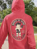 Born to Win, the Lucky Kid - by LCKY JACK (for Trixie & Milo) - Hoodie, classic tattoo style, boxing baby tattoo, workout hoodie