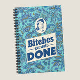 Bitches Get Stuff Done notebook by LCKY JACK. Spiral Notebook - funny notebook, feminist notebook, back to school, funny journal