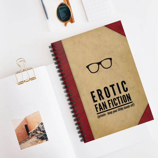 Erotic Fan Fiction notebook by LCKY JACK. Spiral Notebook, Tina Belcher notebook, Bob's Burgers notebook, funny journal, funny notebook