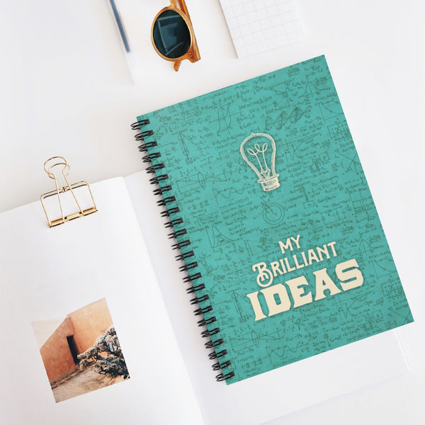 My Brilliant Ideas notebook by LCKY JACK. Spiral Notebook - back to school, funny journal, writers notebook