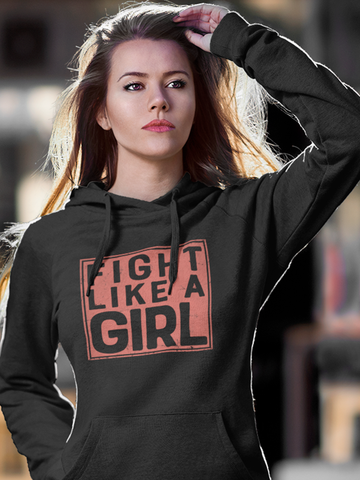 Fight Like A Girl- by LCKY JACK (for Trixie & Milo) - Hoodie, Boxing Girl, work out hoodie, inspirational hoodie