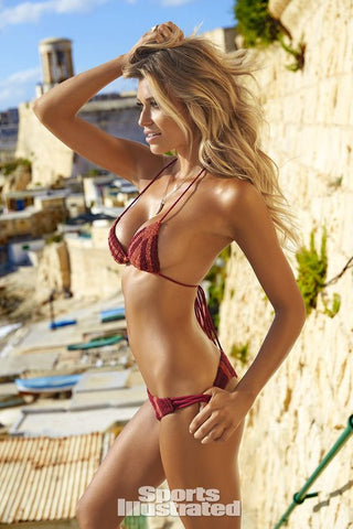 ROVE SWIMWEAR HUDSON BOTTOM in WINE/TERRACOTTA - Bikini Junkie
