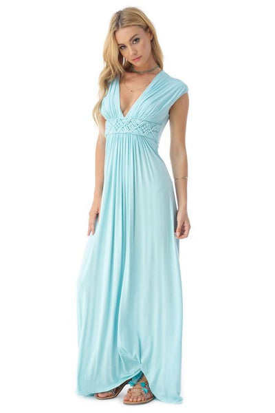 SKY TANNYA MAXI DRESS in SKY BLUE - Bikini Junkie