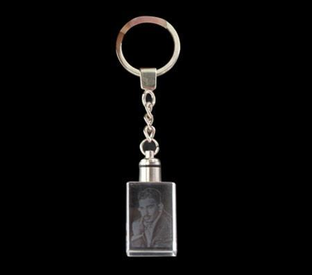 Crystal Rectangle Keychain