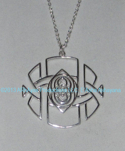 Eye of AL-Hum-Bhra Pendant - 18K Solid White Gold
