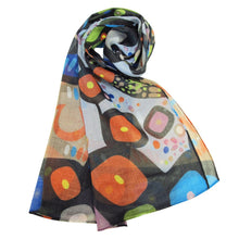 Load image into Gallery viewer, The Bear Scarf designed by Chipewyan Dene artist John Rombough - Alternative View