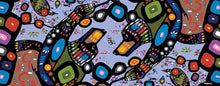 Load image into Gallery viewer, The Bear Scarf designed by Chipewyan Dene artist John Rombough - Pattern View