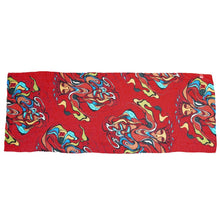 Load image into Gallery viewer, Pow Wow Dancer Scarf designed by Potawatomi Artist Daphne Odjig - Overall Pattern