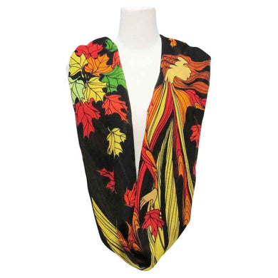Leaf Dancer Infinity Scarf-Shawl Designed by Sioux Artist Maxine Noel