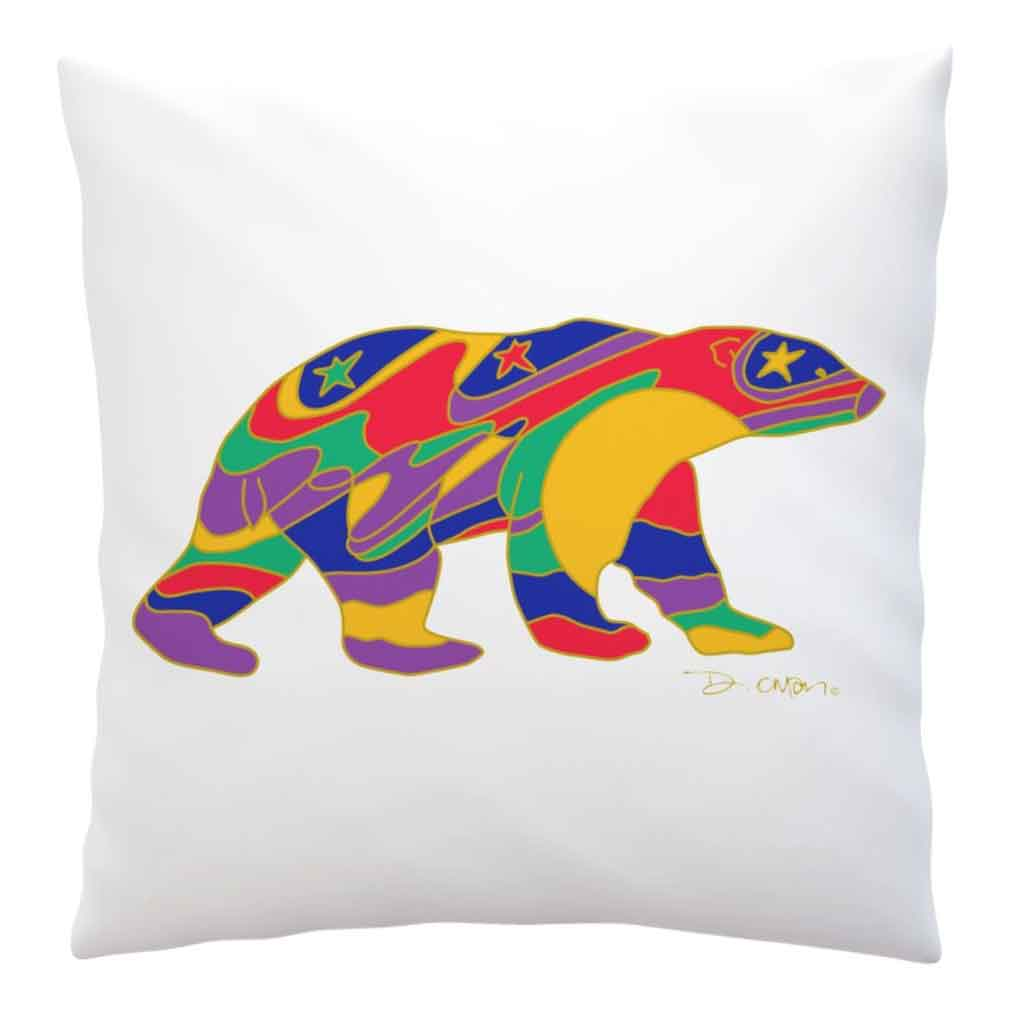 Alpha Bear Decorative Pillow Cover by Dawn Oman