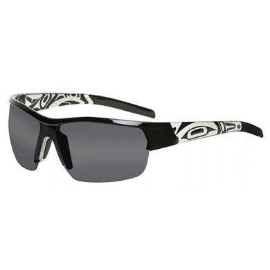 Cody Sunglasses with Sun Moon Design in Black