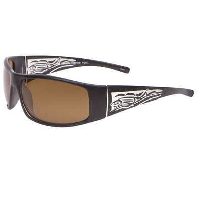 Corrine Hunt Liam Salmon Sunglasses in Matte Black
