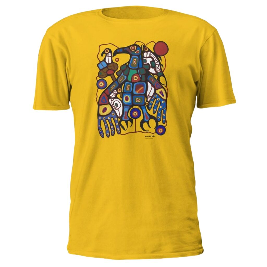 Norval Morrisseau Man Changing into Thunderbird Art T-Shirt in Yellow