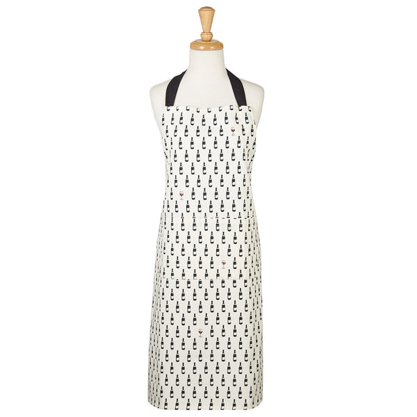 Apron with Wine Bottle Dots