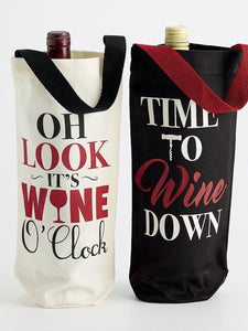 Wine Cellar Bottle Totes (Pair) with Wine Bottles