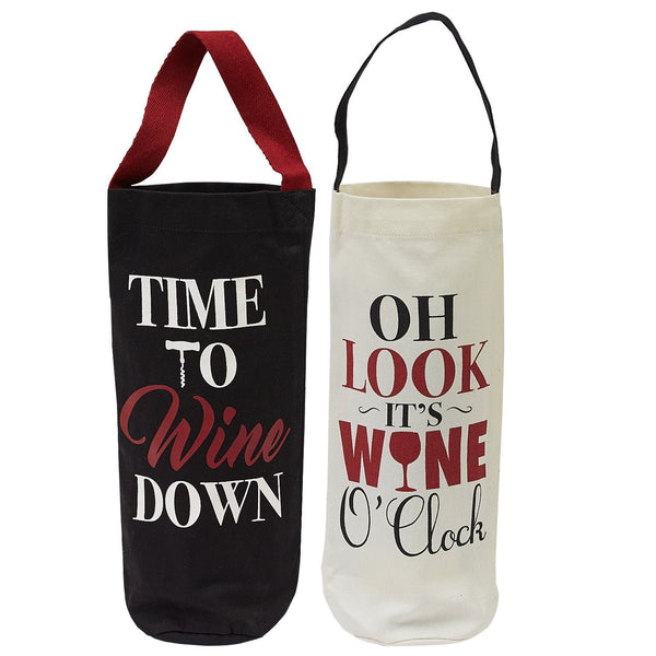 Wine Cellar Bottle Totes (Pair)