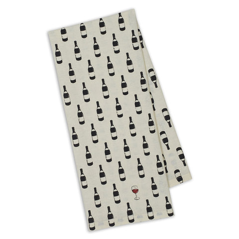 Bottle Dots Printed Dish Towel