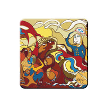 "Load image into Gallery viewer, Coaster Set - ""Indian in Transition"" by Daphne Odjig"