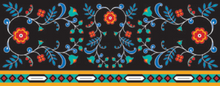 Load image into Gallery viewer, Infinity Scarf with Honouring Our Life Givers design by Sharifah Marsden, Anishinaabe - Pattern