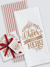 Load image into Gallery viewer, Christmas Cheer Dish Towel Set - Image 2