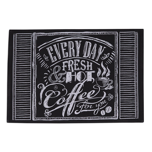 Coffee Chalkboard Print Placemat