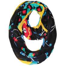 Load image into Gallery viewer, Infinity Scarf with Honouring Our Life Givers design by Sharifah Marsden, Anishinaabe