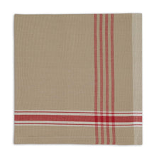 Load image into Gallery viewer, Cloth Table Napkin in Joyeux Noel Plaid