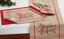 Load image into Gallery viewer, Cloth Table Napkin in Joyeux Noel Plaid with Optional Table Accessories