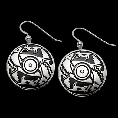 Ancient Voices .925 Sterling Silver Earrings from Metal Arts Group