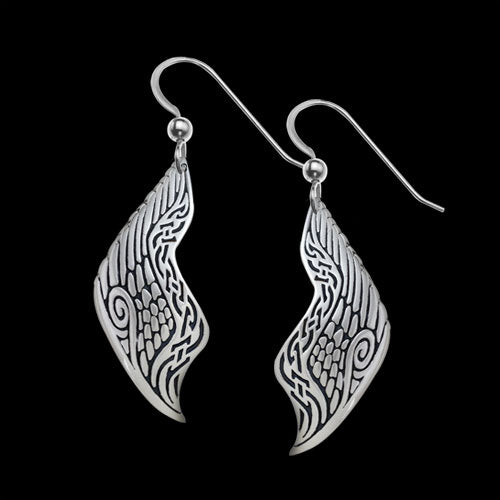 Freedom's Wings .925 Sterling Silver Earrings from Metal Arts Group