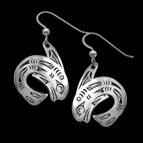 Killer Whale .925 Sterling Silver Earrings from Metal Arts Group