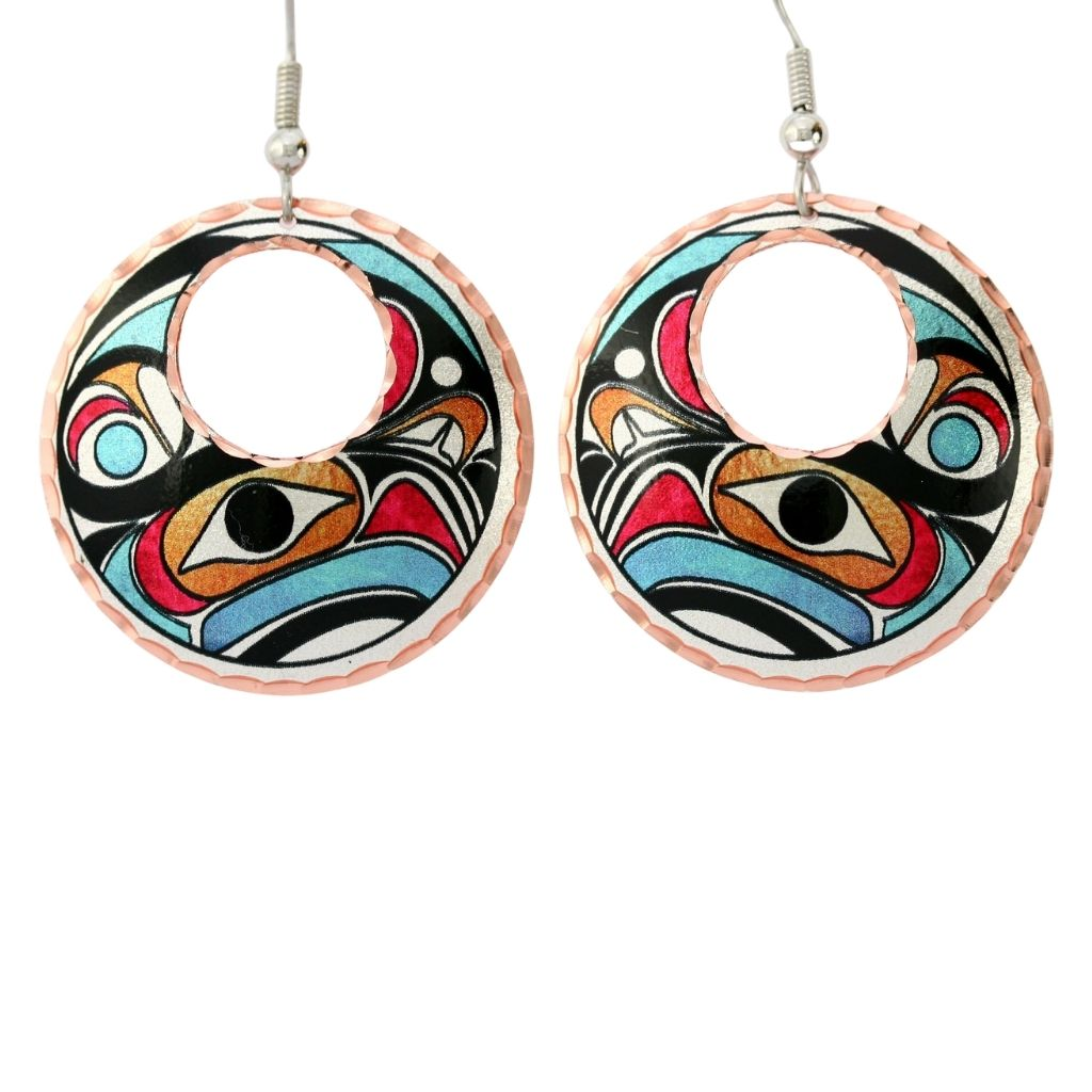 NW Native Design Earrings feature a colorful native-inspired design.