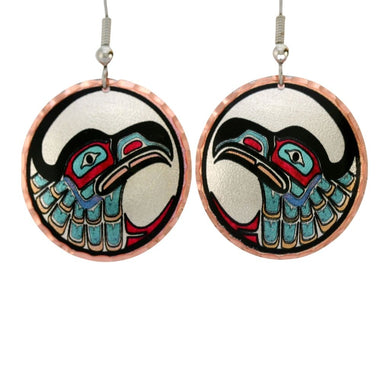 NW Native Eagle Design Earrings feature a colorful eagle design.